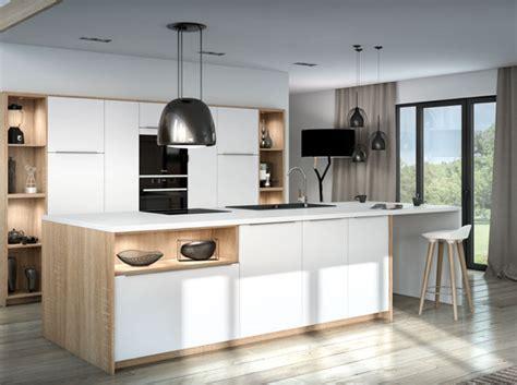plan ilot central cuisine je veux une cuisine scandinave décoration