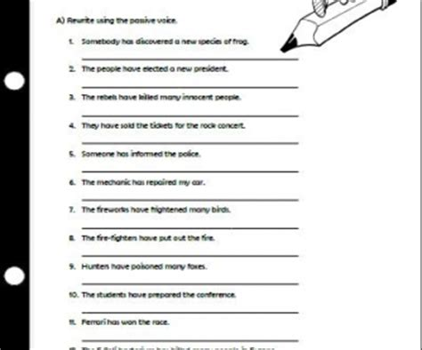 The Passive Voice With Present Perfect Worksheet