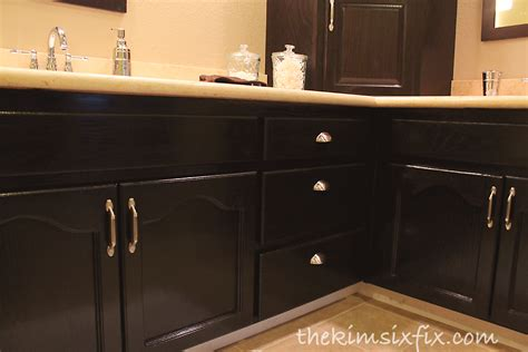 painting over stained cabinets master bathroom reveal 80s to awesome the kim six fix