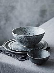 Teller Set Grau : geschirr im handmade look keramik porzellan und ~ Michelbontemps.com Haus und Dekorationen