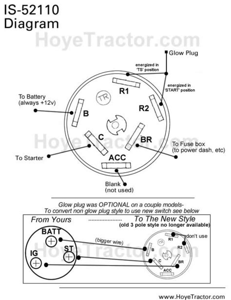 Wiring Diagram For Key Switch by Ignition Switch Original Yanmar Style Yanmar Tractor Parts
