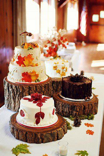 autumnal wedding cakes wedding ideas  colour chwv