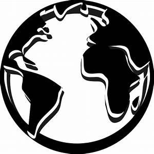 Black Globe clip art - vector | Clipart Panda - Free ...
