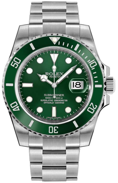 Authentic New 116610LV Rolex Submariner Hulk Men's Watch ...