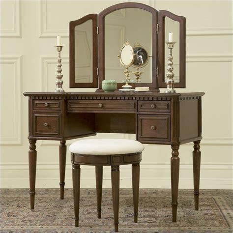 powell furniture vanity powell furniture vanity set in warm cherry makeup vanity