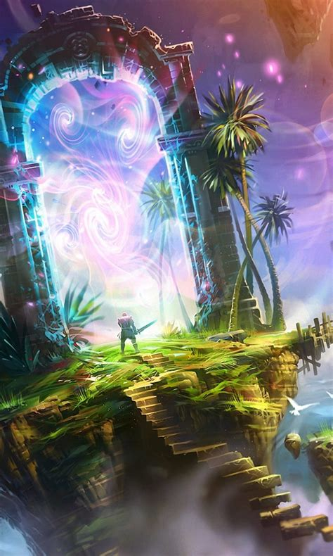fantasy portal hd wallpaper mthemes