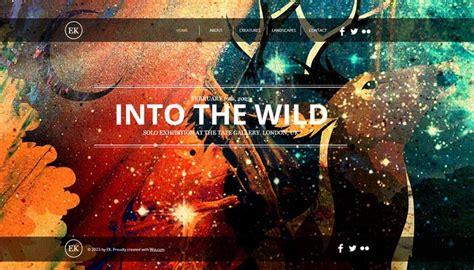 artist website templates 20 beautiful portfolio website templates for artists