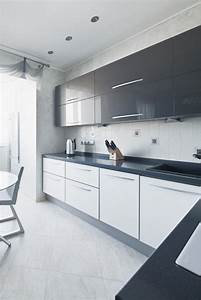 modern white kitchen cabinets tjihome With kitchen colors with white cabinets with modern black and white wall art