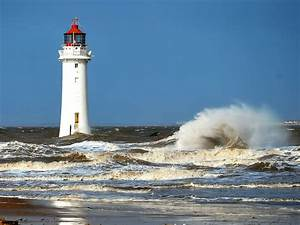 The storm, lighthouses, Storm 52388