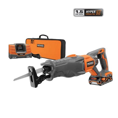 depot sawzall ridgid x4 18 volt hyper lithium ion cordless reciprocating Home