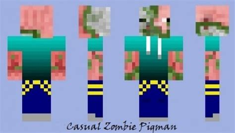 casual zombie pigman minecraft skins players