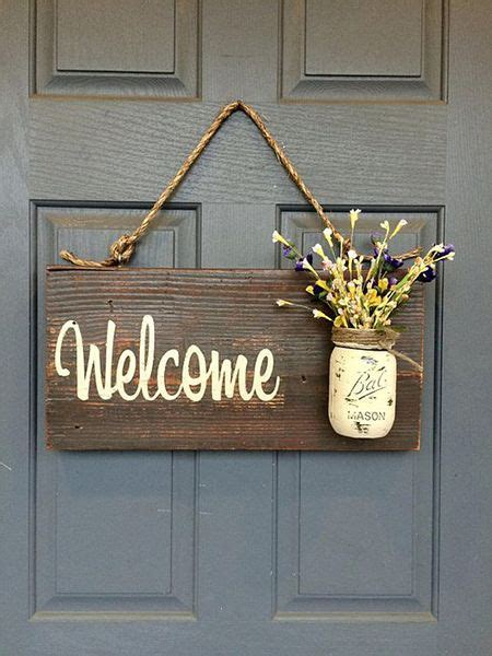 rustic country home decor front porch  sign spring