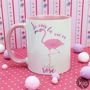 Mug Flamant Rose : mug flamant rose en c ramique je vois la vie en flamant rose sur cadeaux et anniversaire ~ Teatrodelosmanantiales.com Idées de Décoration