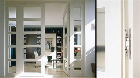 flush room divider  glass insert  modern
