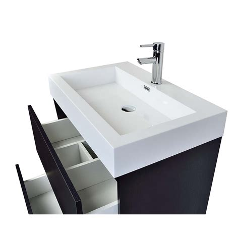 Black Modern Bathroom Sinks by 29 5 Quot Contemporary Bathroom Vanity Black Tn Ly750 Bk