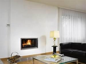 Cheminée Bois Design : cheminee moderne design ~ Premium-room.com Idées de Décoration