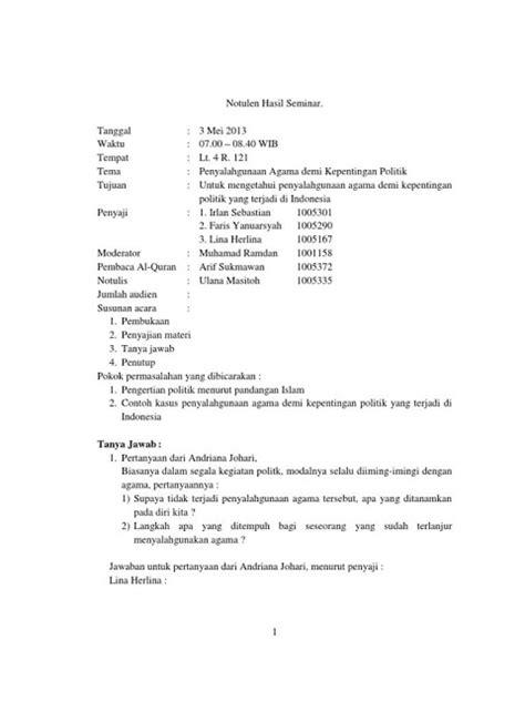 Contoh Notulen Rapat Kantor Pemerintah by 9 Contoh Notulen Rapat Terlengkap Dilengkapi Contoh Cara