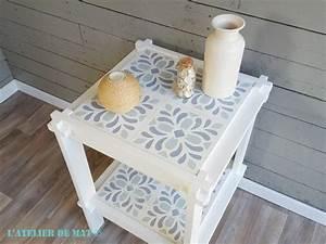 Faux Carreaux De Ciment : une petite table et de faux carreaux de ciment l 39 atelier ~ Dailycaller-alerts.com Idées de Décoration