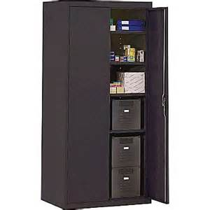 sandusky deluxe steel welded storage cabinet 72 quot h x 36 quot w x 18 quot d black staples 174