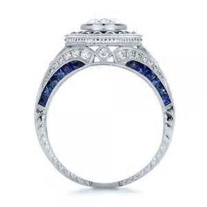 sapphire wedding rings ring settings deco ring settings with sapphire accents