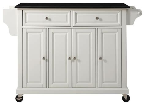 rayder solid black granite top kitchen island