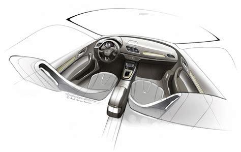 Audi Q3 Interior Design Sketch