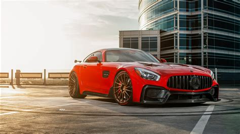 red darwin pro mercedes amg gts  wallpapers hd
