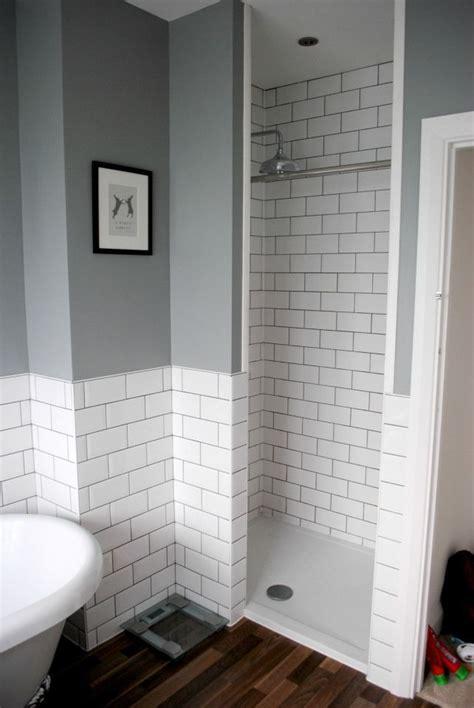 u bahn fliesen graues badezimmer mit ebenerdiger dusche und u bahn