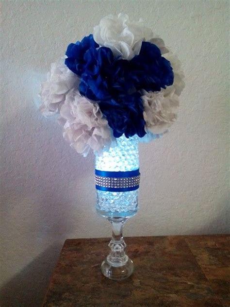 diy wedding decorations blue my wedding royal blue centerpieces diy wedding pinterest the ribbon going away and wedding