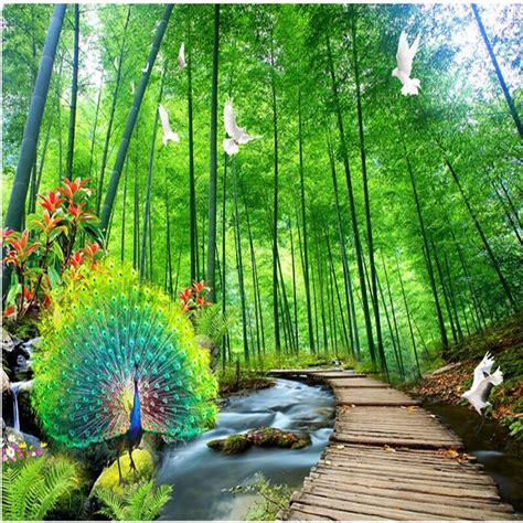3d Scenery Wallpaper by Scenery Wallpapers 3d Peacock Photo Wallpaper For