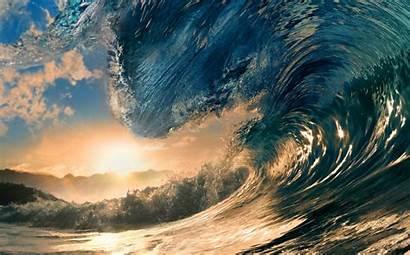 Ocean Nature Close Water Wave Summer Jungle