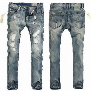 Boys Ripped Jeans Blue White Trousers Retro denim Scratch Hole Slim Fit Pant Men | eBay