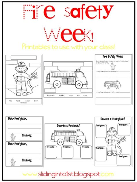 fire safety worksheets for preschoolers sliding into amp safety 226