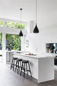 pictures of white kitchens 40 Beautiful Black & White Kitchen Designs