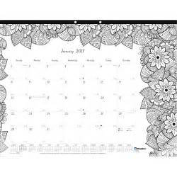 2017 Monthly Calendar Coloring Pages