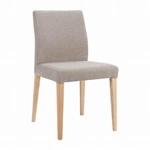 Chaise Tissu Beige : eleonora chaise en tissu beige et pieds en fr ne habitat ~ Teatrodelosmanantiales.com Idées de Décoration