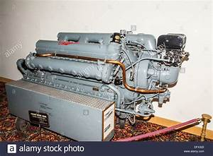 A Packard 12 Cylinder Marine Engine Of The Type Used In Pt Boats In Stock Photo  61424106