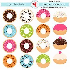Donuts Clipart Set clip art set of donuts doughnuts cute