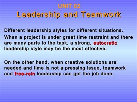 Unit 2 Leadership And Teamwork P1,m1,d1,p2