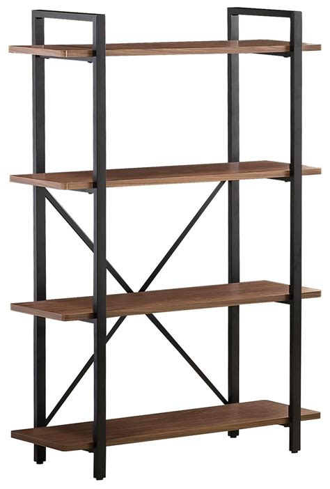 Brown Wood Bookcase  Stealasofa Furniture Outlet Los