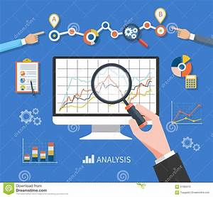 Data Analysis Concept stock vector. Illustration of ...