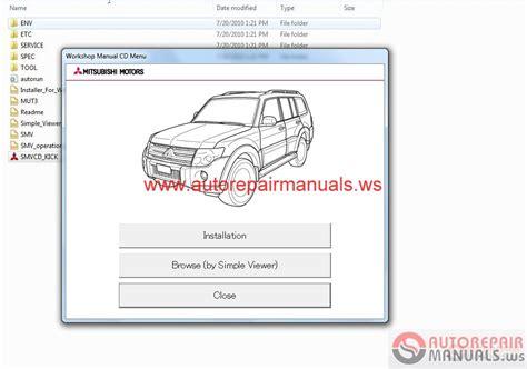 auto repair manuals mitsubishi pajero 2011 workshop manual