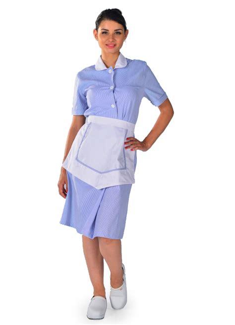 interim femme de chambre blouse femme de chambre à manches courtes bleu ciel carlton