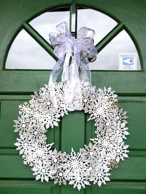 winter wreath   inexpensive plastic snowflake