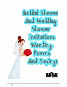 Bridal shower and wedding shower invitations wording ...