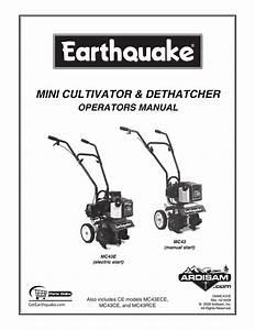 Earthquake Tiller Mc43 Parts Diagram