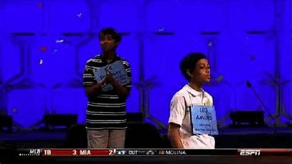 Spelling Bee Arvind Celebration Confetti Nerdy Winning