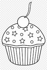 Cupcake Clipart Muffin Outline Coloring Cupcakes Pages Bakery Cute Cakes Muffins Pastries Transparent Colored Pies American Cliparts Clipground Vippng sketch template