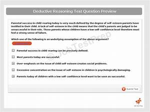 Deductive Reasoning Test - Learn And Practise