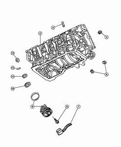Chrysler Aspen Heater  Engine Block  Cylinder  Esf  Ezb